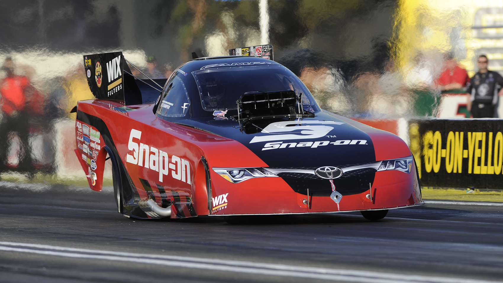 Cruz Pedregon is currently sponsored by Snap-on Tools in the NHRA Funny Car division.