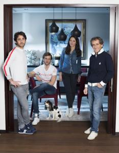 Famille Prost, Alain, Nicolas, son épouse Delphine et le cadet Sacha